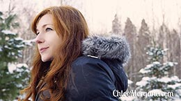 Chloe Morgane in This Redhead Loves Winter