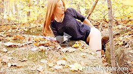 Chloe Morgane in Anal Play in The Woods