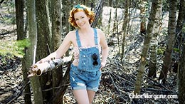Chloe Morgane in Country Redhead in Dungarees