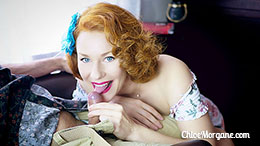 Chloe Morgane in Fun Redhead Blowjob