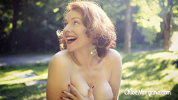 Chloe Morgane in Redhead Outdoor Boobs Teasing