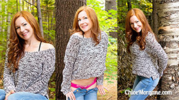 Chloe Morgane in Redhead Loves Trees!