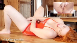 Chloe Morgane in Fingering on the Kitchen Table