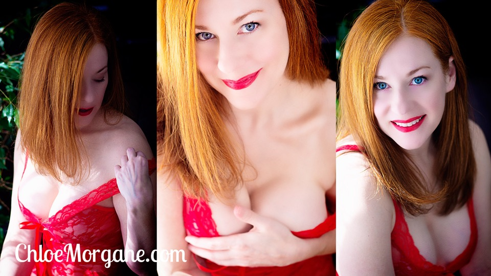 Redhead, Red Lips, Red Lace