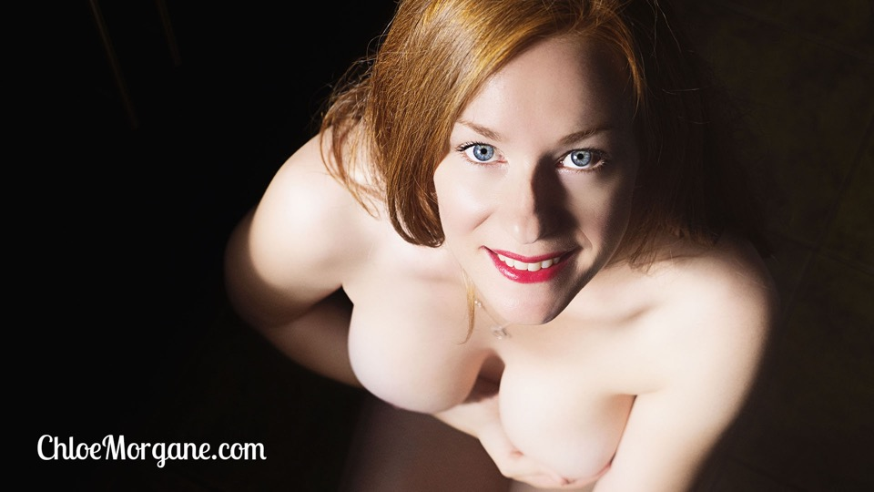 Nude Redhead on the Cool Ceramic Tiles