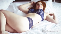 Chloe Morgane in Lovely Blue Lingerie