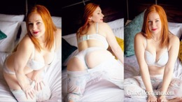Chloe Morgane in Redhead in Beautiful Lingerie